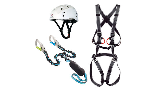 Ocun Via Ferrata Bodyguard Pail Set - Kit vía ferrata - gris/azul